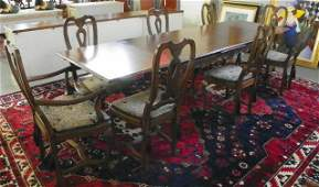 356: Baker & Co. dining room table & 6 chairs