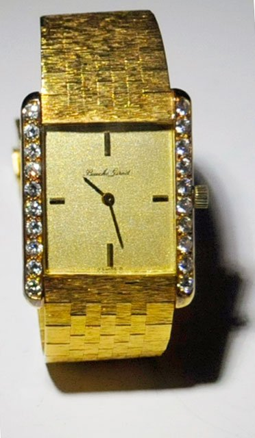 1022: 18kt gold Bueche-Girod men's watch