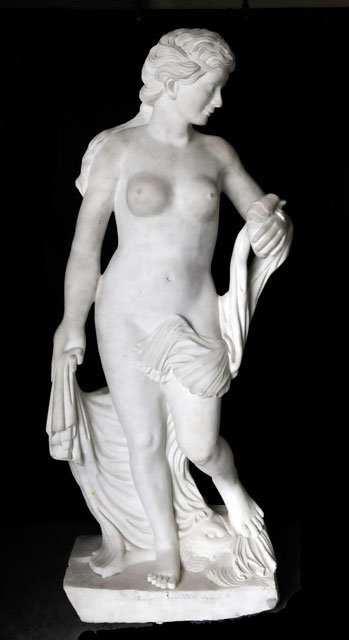 """1341: Marble sculpture of """"Nude Female"""""""