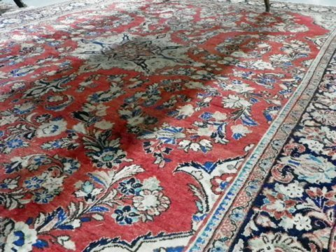 6: Red Sarouk hand made Persian rug