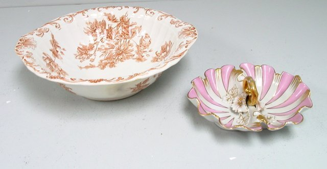 27: English bowl & French sectional bowl