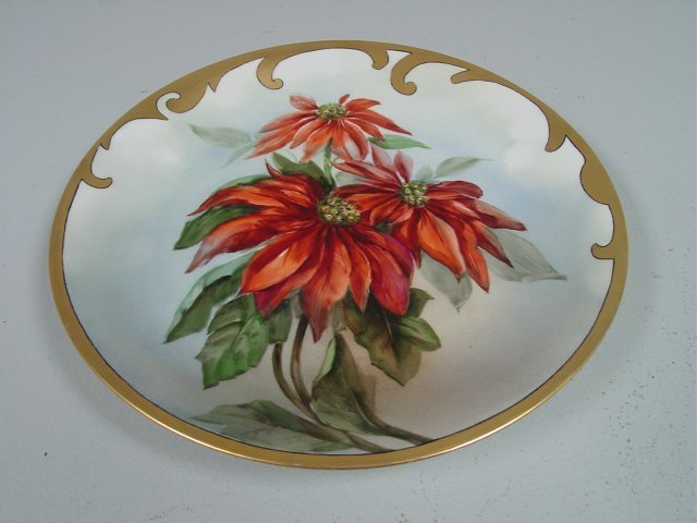 28: Hand painted Limoges hanging plate