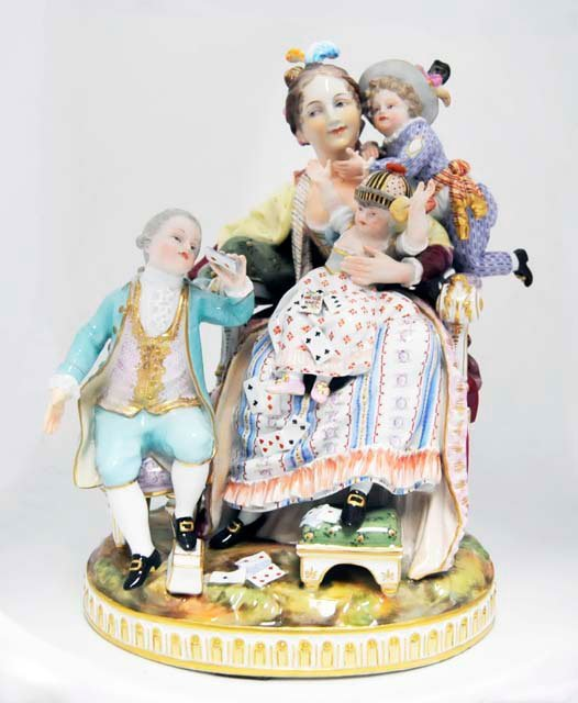 "158: Meissen grouping ""The Good Mother"""
