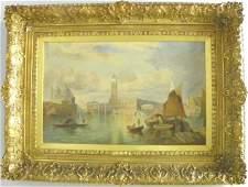 1219: Gilt framed oil painting signed H. Pottentin