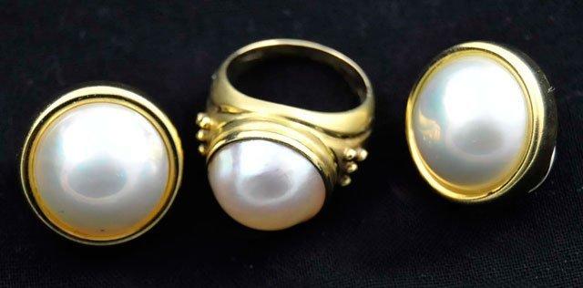 1016X: 2 pieces mobe pearl jewelry