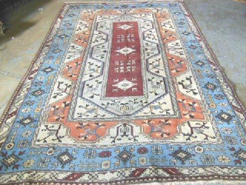 1: Kazak handmade rug with Caucasian design