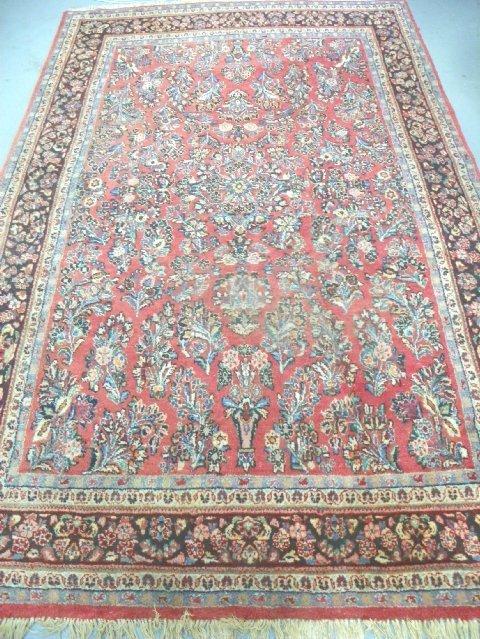 7: Persian red Sarouk hand made rug