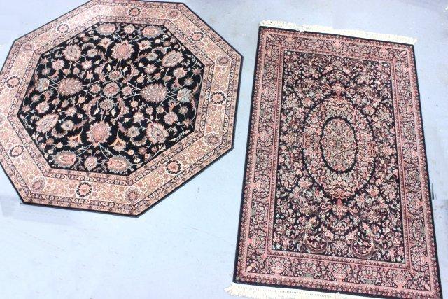 9: 2 machine made rugs- Karastan & Couristan