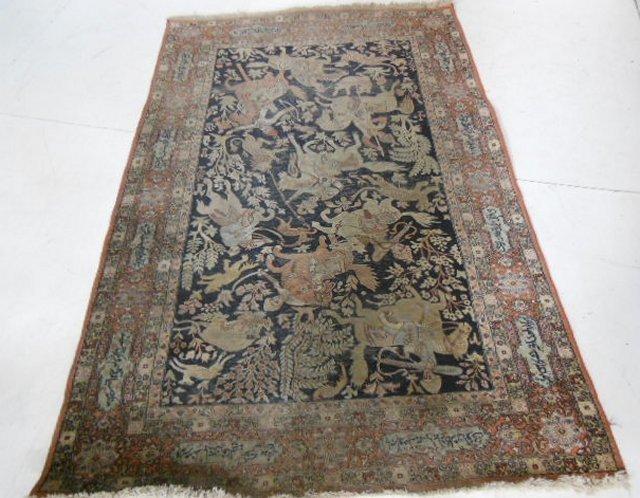 10: Tabriz handmade silk carpet