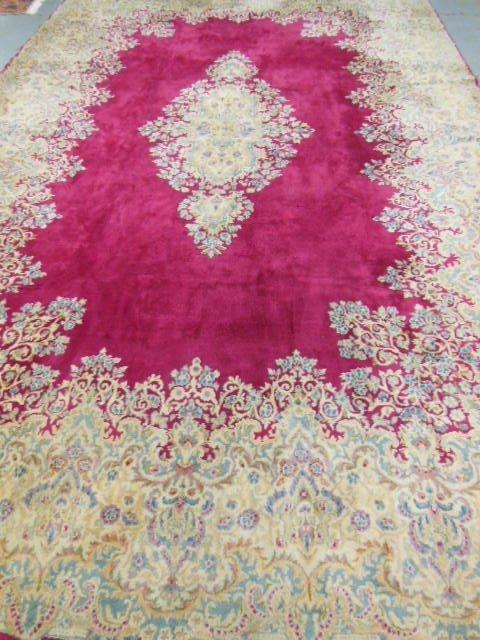 24: Persian Kerman rug