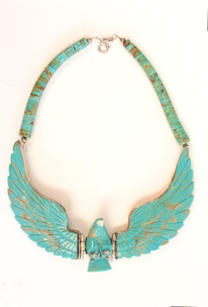1001: American Indian turquoise necklace