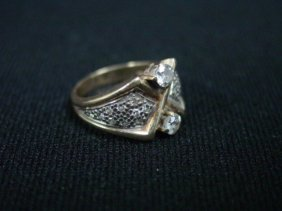 Gold & Diamond Ladies Ring