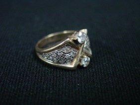 2001: Gold & diamond ladies ring