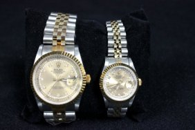 2002: 2 watches Men's & Women's by Rolex