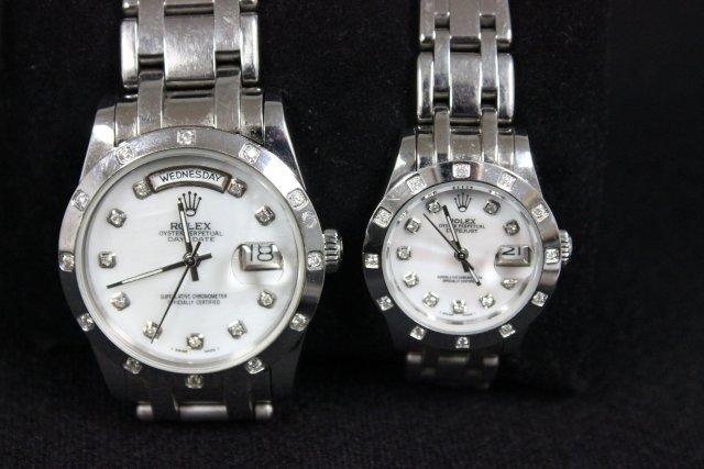 2003: 2 watches Men's & Women's by Rolex