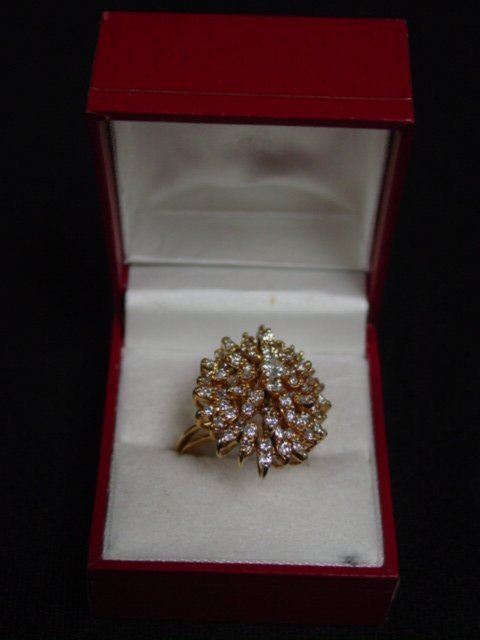 2004: 14kt gold cocktail ring