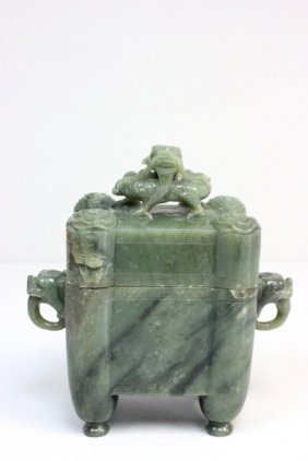 Jade Covered Box