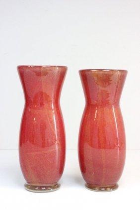 2031: Pair Murano glass vases