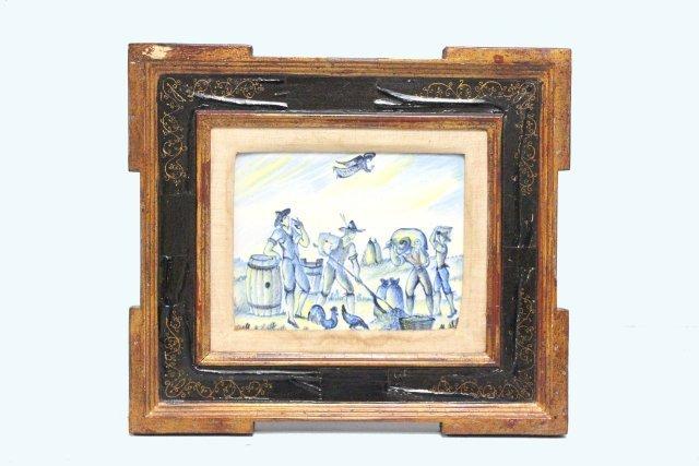 2032: Framed porcelain plaque