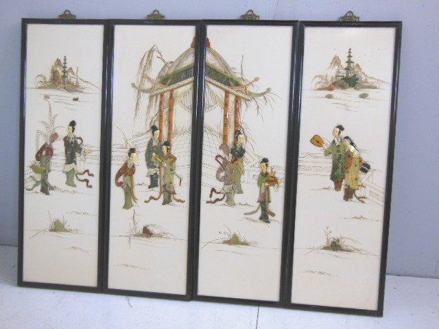 2034: Set of 4 Chinese screen panels