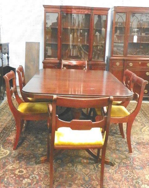 2132 drexel mahogany dining room set ca 1930 s rh liveauctioneers com drexel heritage dining room set for sale Drexel Dining Room Server Set