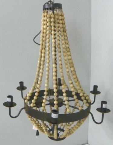 2018: Beaded 6 arm chandelier