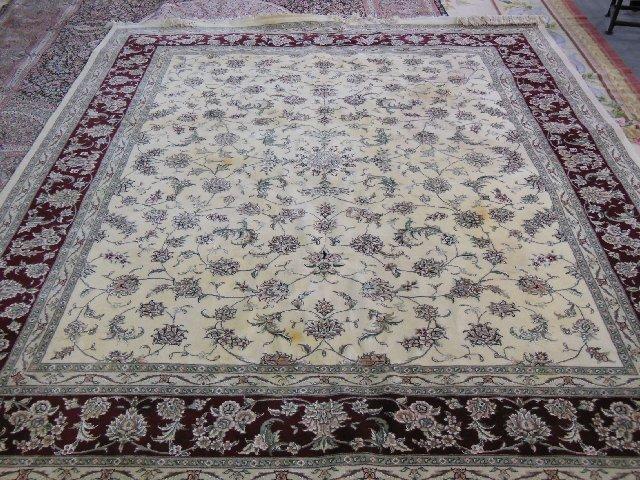Handmade silk & wool rug