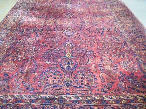 Refringed red ground Sarouk rug ca. 1930