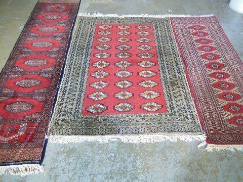 3 mid century Burkara rugs
