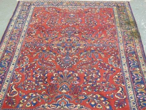 Hamadan scatter rug ca 1940's