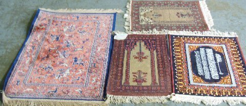 Group lot of 4 scatter rugs