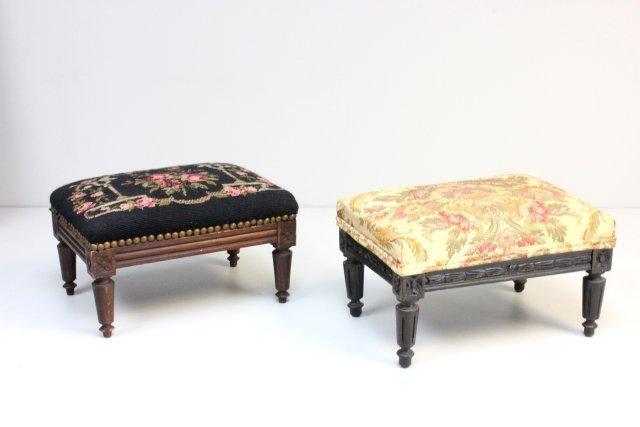 2 Victorian foot stools
