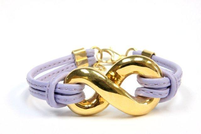 18kt yellow gold & purple string bracelet