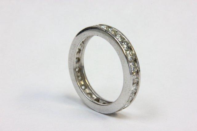 Platinum & diamond wedding band