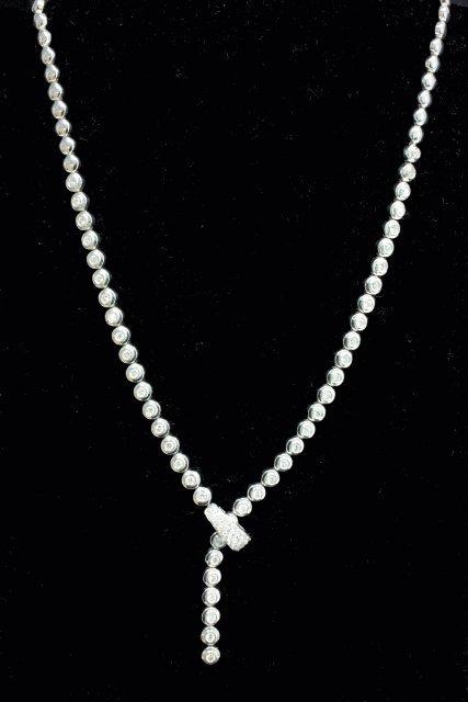 18kt white gold & diamond necklace