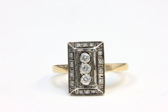 Antique 14kt gold & diamond ring
