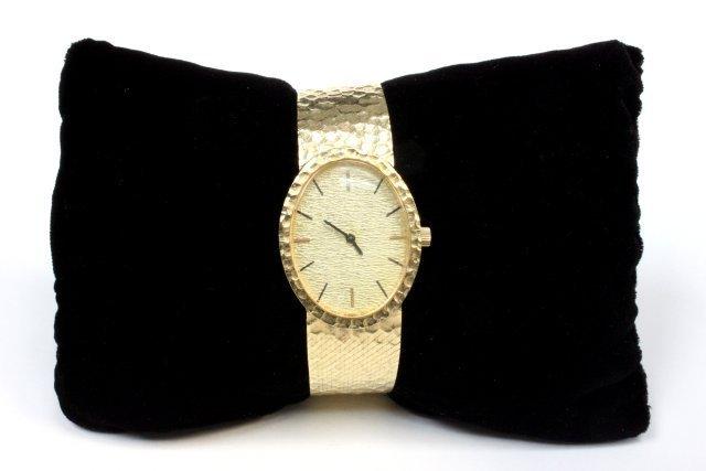14kt gold mens wrist watch