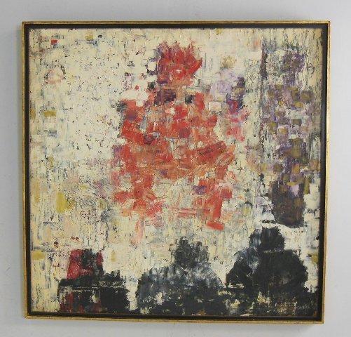 Tomas de La Tierra signed Abstract oil painting
