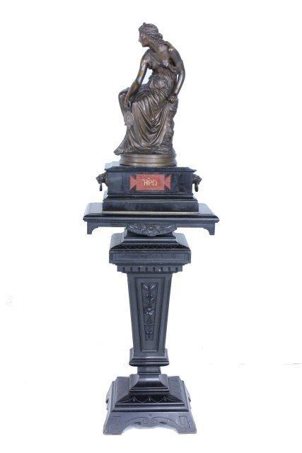 "Bronze sculpture signed H. Dumaige  ""Hera"""