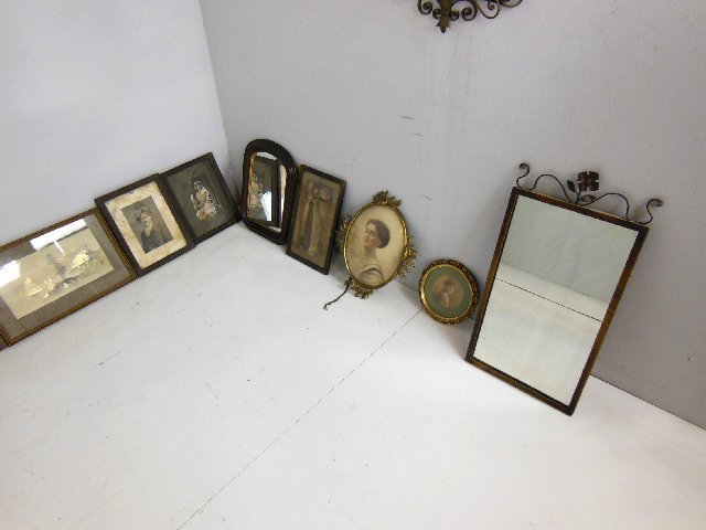 Group lot of 10 various pictures & mirrors - 3