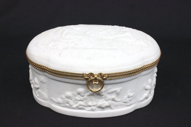 Limoges parian jewel box