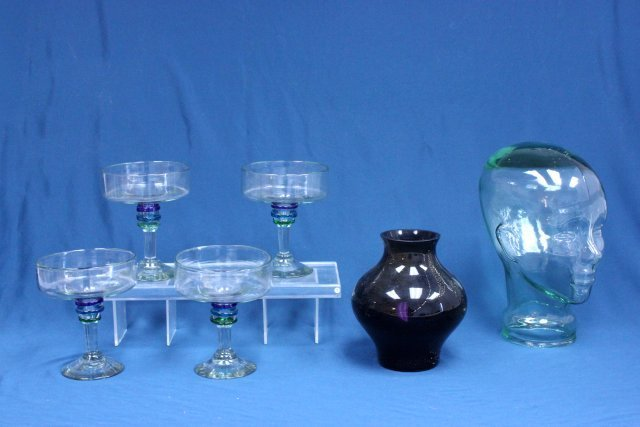 Modern glass lot of 6 pieces