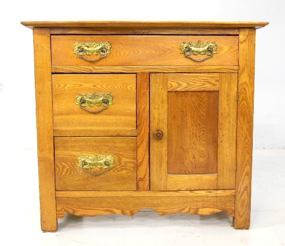 Solid chestnut washstand