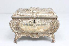 Silver Plate Rococo Style Casket