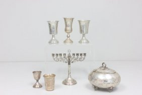 Lot Of Silver Judaica