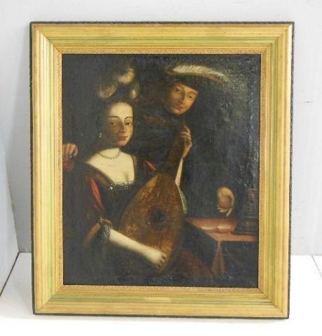 John Hesselys 18th c. oil painting