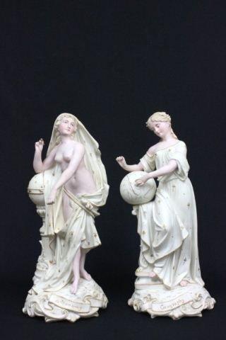 Pair Rudolstadt Astronomy & Geography figures