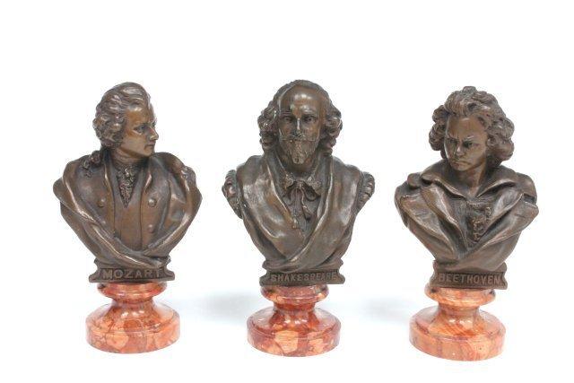 3 miniature bronzes ca. 19th c.