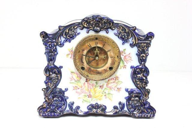 Porcelain cased clock probably Bonn