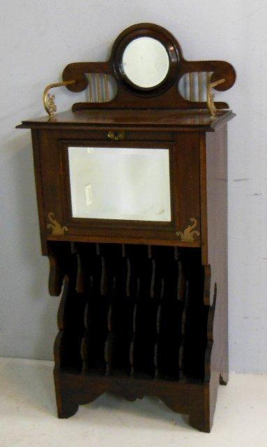 Mahogany music cabinet ca. turn of the century